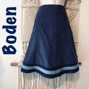 Adorable 60's style BODEN corduroy a line skirt